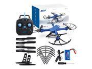 JJRC H38WH WiFi FPV with 2MP Wide Angle Camera Removable Arm Altitude Hold Mode RC Quadcopter RTF - Blue