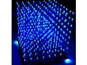 3D Lights Squared DIY Kit 8x8x8 3mm LED Cube White LED Blue Ray