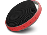 MiiKey Wireless MiiShower water proof Wireless Bluetooth Speaker with Microphone & built in Music player - Red