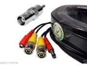 Wennow ***HD Mini RG59 200Ft Video Power BNC RCA Cable for Night Owl HD Security Camera