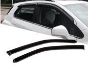 Window Visor Rain Guard Deflector Outside Mount 2 Pcs Set Fits Jeep Wrangler 1997-2006