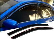Window Visor Rain Guard Deflector Outside Mount 2 Pcs Set Fits Honda Civic 1992-1995 Coupe/Hatchback