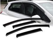 Window Visor Rain Guard Deflector Outside Mount 4 Pcs Set Fits Toyota Prius V 2012-2015