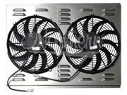 "Northern Z40003 Dual 12"" Fan with Shroud"