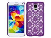 Purple Frosted Lace TPU Skin Cover for Samsung Galaxy S5 9SIA3671MA8485