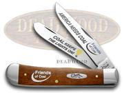 CASE XX Friends of Coal America Needs Coal Chestnut Bone Trapper 1/500 Knives