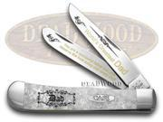CASE XX White Pearl Corelon World's Greatest Dad 1/600 Trapper Pocket Knives