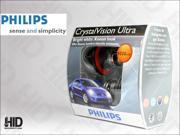 PHILIPS Crystal Vision H13/9008 Headlight BULBS, Pack of 2