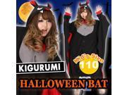 Kigurumi Unisex Cosplay Animal Hoodie Pajamas Pyjamas Costume Onepiece Outfit Sleepwear - Bat