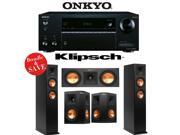 Onkyo TX-NR555 7.2-Channel Network A/V Receiver + Klipsch RP-250F + Klipsch RP-250S + Klipsch RP-250C - 5.0 Reference Premiere Home Theater Package
