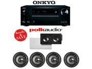 Onkyo TX-NR757 7.2-Channel Network A/V Receiver + A Polk Audio V80 5.0 In-Wall / In-Ceiling Home Speaker System (255C-RT)