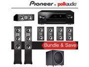 Polk Audio TSi 400 7.1-Ch Home Theater Speaker System with Pioneer Elite SC-LX701 9.2-Ch Network AV Receiver 9SIA36V5J64227