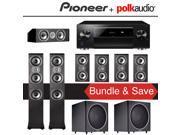 Polk Audio TSi 400 7.2-Ch Home Theater Speaker System with Pioneer Elite SC-LX701 9.2-Ch Network AV Receiver 9SIA36V5J64244
