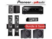 Polk Audio TSi 500 5.2-Ch Home Theater Speaker System with Pioneer Elite SC-LX701 9.2-Ch Network AV Receiver 9SIA36V5J71527