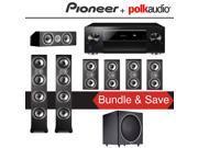 Polk Audio TSi 500 7.1-Ch Home Theater Speaker System with Pioneer Elite SC-LX701 9.2-Ch Network AV Receiver 9SIA36V5J71654