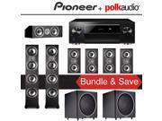 Polk Audio TSi 500 7.2-Ch Home Theater Speaker System with Pioneer Elite SC-LX701 9.2-Ch Network AV Receiver 9SIA36V5J71674