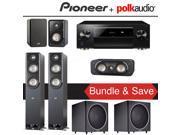 Polk Audio Signature S50 5.2-Ch Home Theater Speaker System with Pioneer Elite SC-LX701 9.2-Ch Network AV Receiver 9SIA36V5JA3748