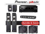Polk Audio Signature S55 5.2-Ch Home Theater Speaker System with Pioneer Elite SC-LX701 9.2-Ch Network AV Receiver 9SIA36V5JB7889