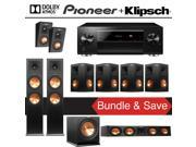 Klipsch Reference Premiere RP-280F Dolby Atmos 7.1.2-Ch Home Theater System with Pioneer Elite SC-LX701 9.2-Ch Network AV Receiver 9SIA36V5JB9455