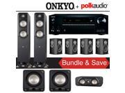 Polk Audio Signature S55 7.2-Ch Home Theater Speaker System with Onkyo TX-RZ820 7.2-Channel Network AV Receiver