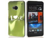 Green HTC One M7 Aluminum Plated Hard Back Case Cover 7M771 Love Hair Cutting Crafts 9SIA36Y13F4379