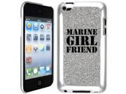 Silver Apple iPod Touch 4th Glitter Bling Hard Case Cover GT399 Marine Girlfriend 9SIA36Y1VS9125