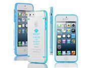 Apple iPhone 4 4s Ultra Thin Transparent Clear Hard TPU Case Cover Keep Calm and Adopt A Pet (Light Blue)
