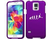 Samsung Galaxy S5 Mini Snap On 2 Piece Rubber Hard Case Cover Evolution Basketball (Purple)