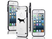 Apple iPhone 4 4s Ultra Thin Transparent Clear Hard TPU Case Cover Beagle (Black)