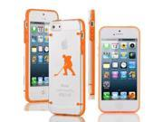 Apple iPhone 6 6s Ultra Thin Transparent Clear Hard TPU Case Cover Hockey Player (Orange)
