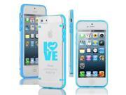 Apple iPhone 6 6s Ultra Thin Transparent Clear Hard TPU Case Cover Love Dachshund (Light Blue)