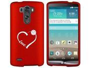 LG G4 Snap On 2 Piece Rubber Hard Case Cover Love Heart Volleyball (Red)