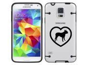 Black Samsung Galaxy Ultra Thin Transparent Clear Hard TPU Case Cover Boston Terrier Heart (Black for S3)