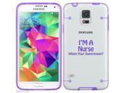 Purple Samsung Galaxy Ultra Thin Transparent Clear Hard TPU Case Cover Nurse Super Power (Purple for S4) 9SIA36Y3D93086