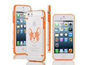 Apple iPhone 4 4s Ultra Thin Transparent Clear Hard TPU Case Cover French Bulldog Floral (Orange)