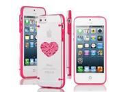 Apple iPhone 6 6s Plus Ultra Thin Transparent Clear Hard TPU Case Cover Heart Love Technology IT Computer (Hot Pink)