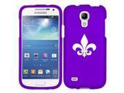 Samsung Galaxy Mega 2 G750 Snap On 2 Piece Rubber Hard Case Cover Fleur De Lis (Purple)