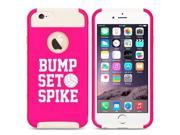 Apple iPhone 5c Shockproof Impact Hard Case Cover Bump Set Spike Volleyball (Hot Pink-White)