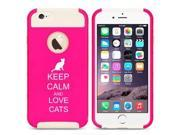Apple iPhone 5c Shockproof Impact Hard Case Cover Keep Calm And Love Cats (Hot Pink-White)