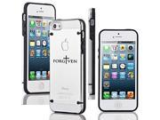 Apple iPhone 4 4s Ultra Thin Transparent Clear Hard TPU Case Cover Forgiven Cross (Black)