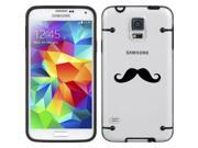 Black Samsung Galaxy Ultra Thin Transparent Clear Hard TPU Case Cover Mustache (Black for S4) 9SIA36Y3DF4262