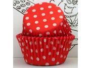 Golda's Kitchen Baking Cups - Polka Dot - Red 9SIAD245DX9177