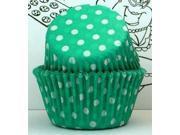 Golda's Kitchen Baking Cups - Polka Dot - Green 9SIAD245DX7930