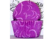Golda's Kitchen Baking Cups - Arabesque - Purple 9SIV16A6725008