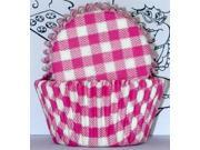 Golda's Kitchen Baking Cups - Gingham - Pink 9SIAD245DX7050
