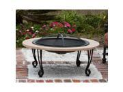 Fire Sense - 02115 - Fire Sense Cast Iron Rim Stone Finish Fire Pit