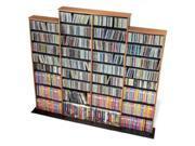 Prepac OMA-1520-K Quad Width Wall Storage, holds 1520 CDs - Oak