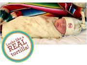 Bon Vivant Baby Tortilla Baby Newborn Swaddle Blanket & Matching Hat Set - TORTILLA-BABY