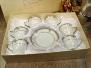 D Lusso Designs Lines Design Twelve Piece Espresso Set 6SQ 800
