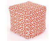 Majestic Home 85907220185 Orange Aruba Small Cube